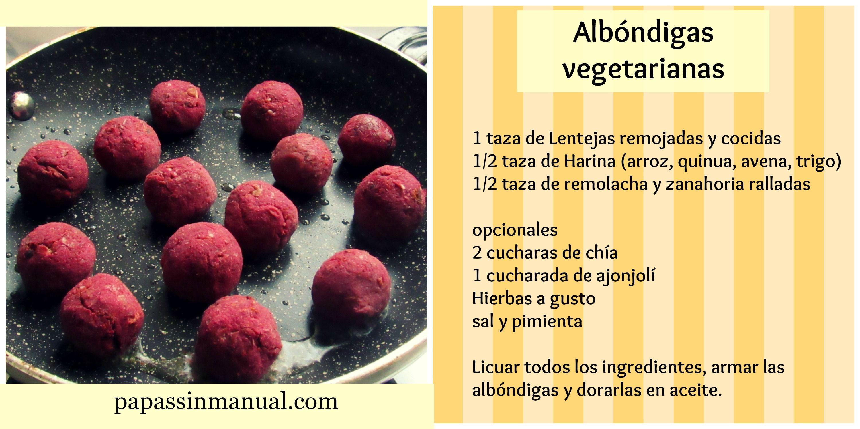 Albóndigas vegetarianas BLW